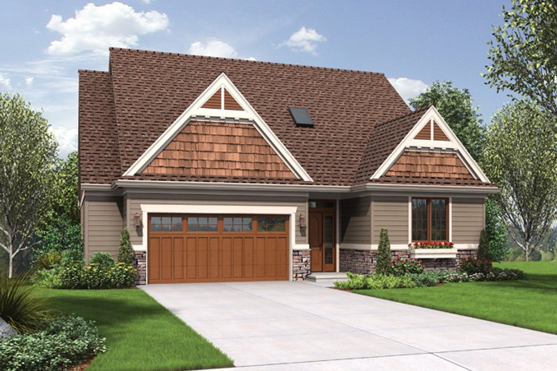 Craftsman Exterior - Front Elevation Plan #48-899