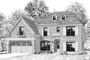 European Exterior - Front Elevation Plan #424-334