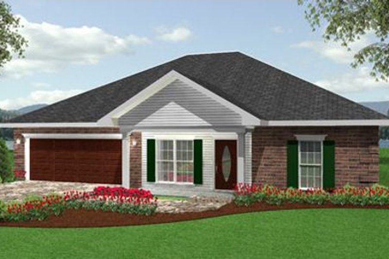 Traditional Exterior - Front Elevation Plan #44-135 - Houseplans.com