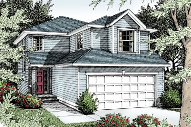 Traditional Exterior - Front Elevation Plan #94-203 - Houseplans.com