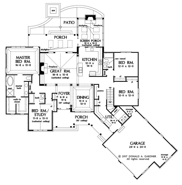 Ranch Floor Plan - Main Floor Plan Plan #929-1096