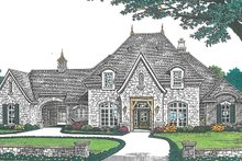 Dream House Plan - European Exterior - Front Elevation Plan #310-1256