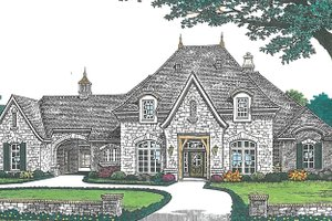 Dream House Plan - European Exterior - Front Elevation Plan #310-1256