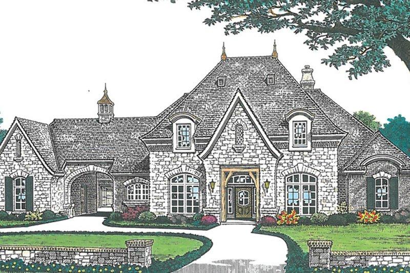 Architectural House Design - European Exterior - Front Elevation Plan #310-1256