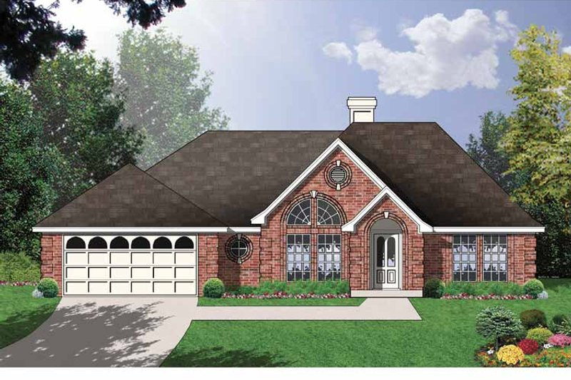 Ranch Exterior - Front Elevation Plan #40-484 - Houseplans.com