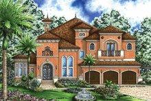 House Plan Design - Mediterranean Exterior - Front Elevation Plan #1017-36
