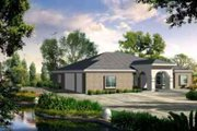 Adobe / Southwestern Style House Plan - 4 Beds 3 Baths 2735 Sq/Ft Plan #1-1189 Exterior - Front Elevation