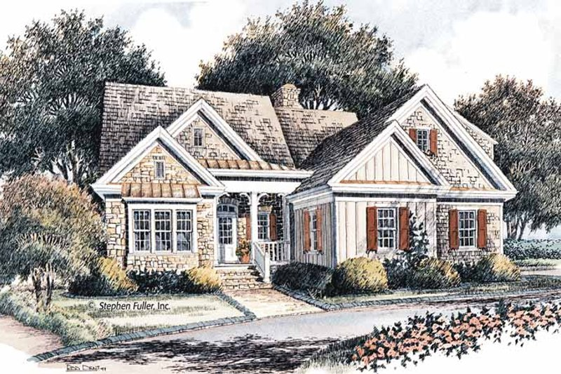 Craftsman Exterior - Front Elevation Plan #429-366