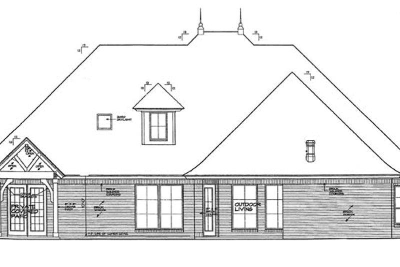 Country Exterior - Rear Elevation Plan #310-1269 - Houseplans.com