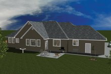 Home Plan - Ranch Exterior - Rear Elevation Plan #1060-26
