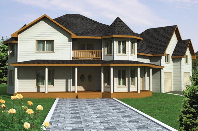 Victorian Exterior - Front Elevation Plan #117-864