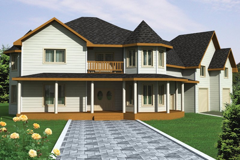 Home Plan - Victorian Exterior - Front Elevation Plan #117-864