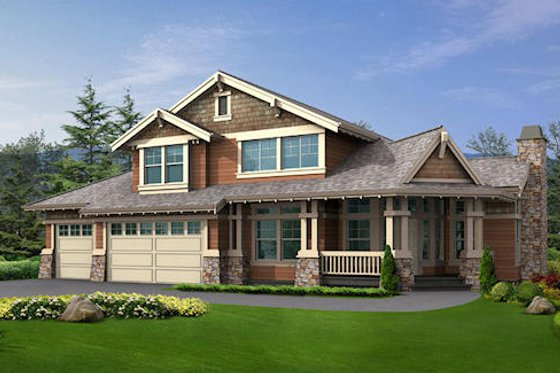 Craftsman Exterior - Front Elevation Plan #132-188