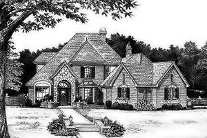 European Exterior - Front Elevation Plan #310-155
