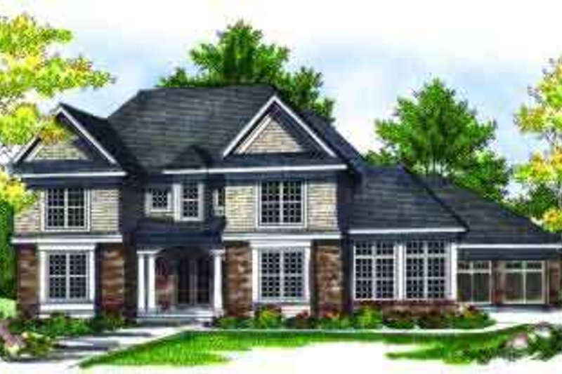 Traditional Exterior - Front Elevation Plan #70-695