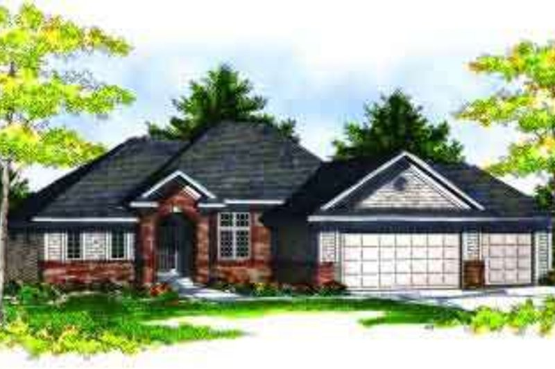 European Style House Plan - 3 Beds 2.5 Baths 2754 Sq/Ft Plan #70-689 Exterior - Front Elevation