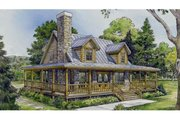 Country Style House Plan - 3 Beds 2 Baths 1479 Sq/Ft Plan #140-173