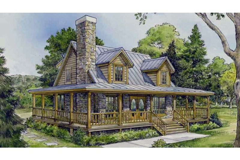 Country Exterior - Front Elevation Plan #140-173 - Houseplans.com