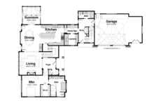 Craftsman Floor Plan - Main Floor Plan Plan #928-254