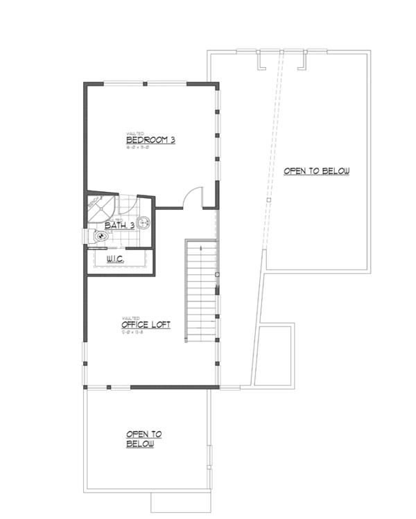 Architectural House Design - Contemporary Floor Plan - Upper Floor Plan #569-29