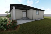 Ranch Style House Plan - 3 Beds 2 Baths 1635 Sq/Ft Plan #1060-42 Exterior - Rear Elevation