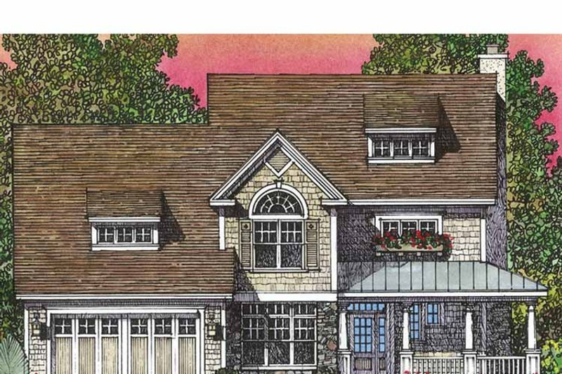 Home Plan - Country Exterior - Front Elevation Plan #1016-90