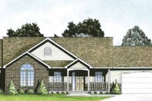 Dream House Plan - Traditional Exterior - Front Elevation Plan #58-218
