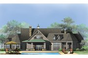 Craftsman Style House Plan - 4 Beds 3 Baths 3335 Sq/Ft Plan #929-920 Exterior - Rear Elevation