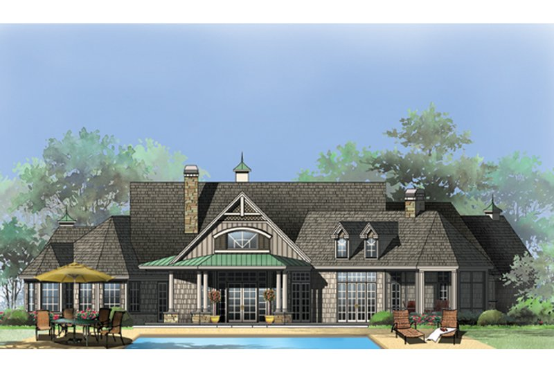 Craftsman Exterior - Rear Elevation Plan #929-920 - Houseplans.com