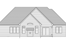 House Design - Ranch Exterior - Rear Elevation Plan #1010-45