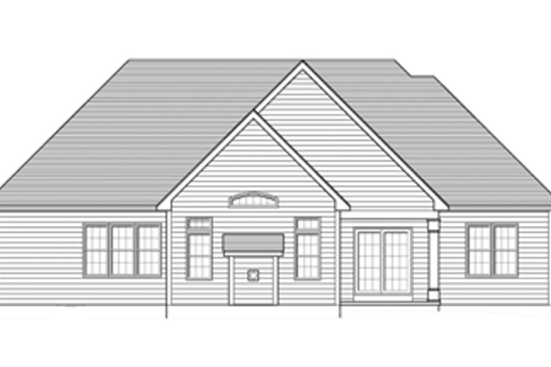 Ranch Exterior - Rear Elevation Plan #1010-45 - Houseplans.com