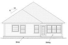Cottage Exterior - Rear Elevation Plan #513-2087
