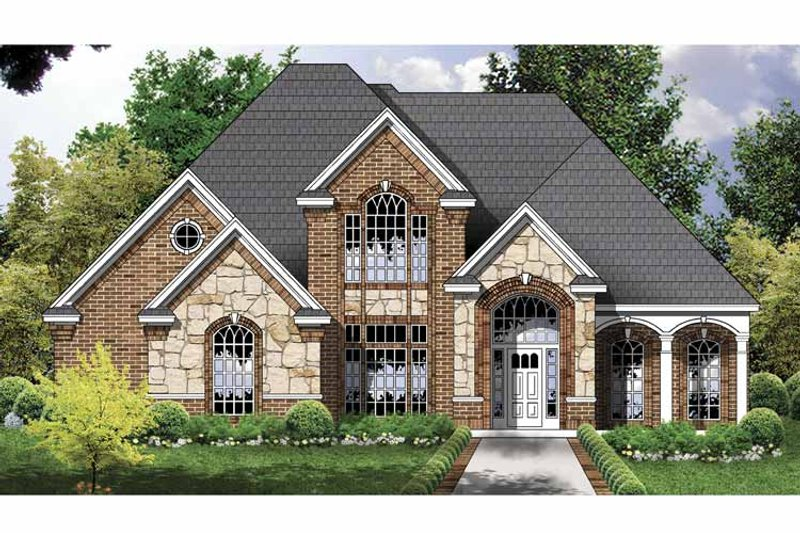 Traditional Exterior - Front Elevation Plan #40-491 - Houseplans.com