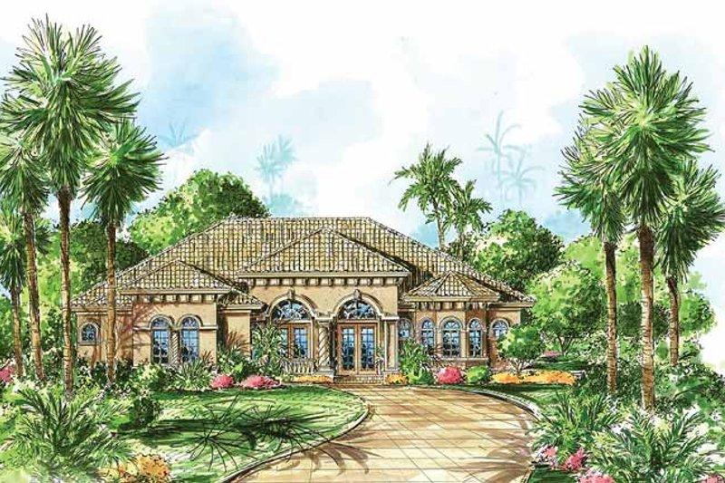 Dream House Plan - Mediterranean Exterior - Front Elevation Plan #1017-21