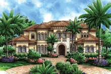 Mediterranean Exterior - Front Elevation Plan #1017-45