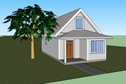 Traditional Style House Plan - 1 Beds 1 Baths 860 Sq/Ft Plan #423-39 Exterior - Front Elevation