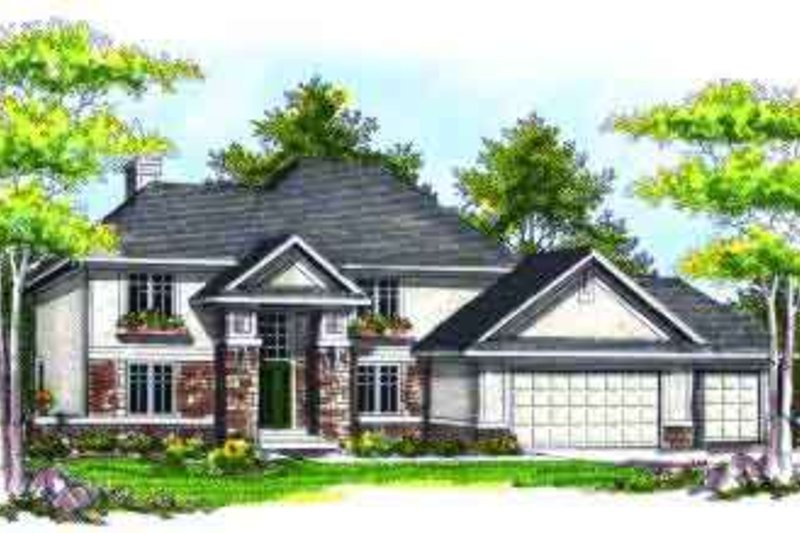Traditional Exterior - Front Elevation Plan #70-732 - Houseplans.com