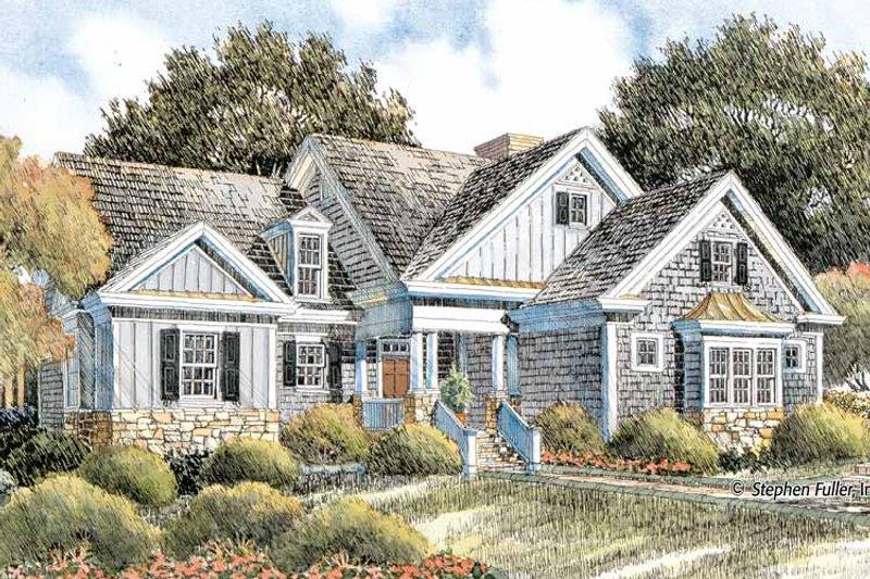 Craftsman Exterior - Front Elevation Plan #429-404 - Houseplans.com
