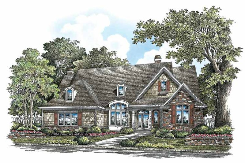 Craftsman Exterior - Front Elevation Plan #929-862