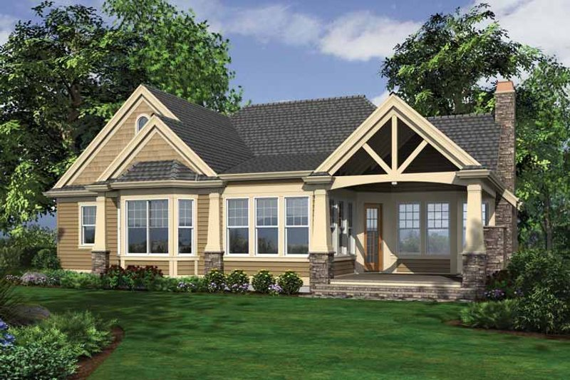 Traditional Exterior - Rear Elevation Plan #132-543 - Houseplans.com