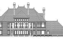 Colonial Exterior - Rear Elevation Plan #119-311