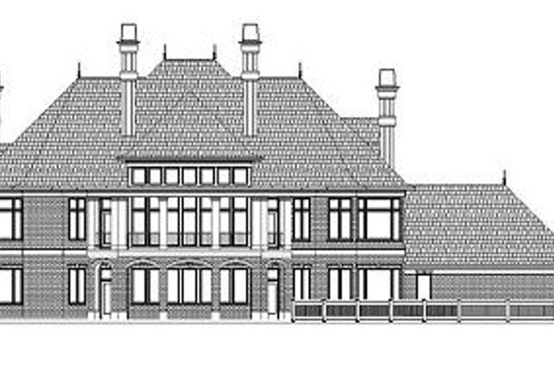 Colonial Exterior - Rear Elevation Plan #119-311 - Houseplans.com