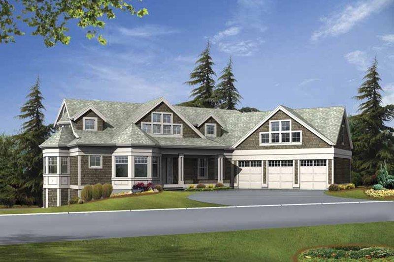 Dream House Plan - Craftsman Exterior - Front Elevation Plan #132-517