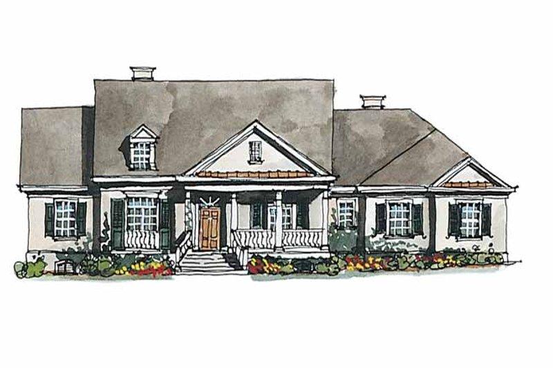 Classical Exterior - Front Elevation Plan #429-174 - Houseplans.com