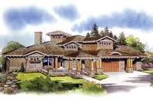 Dream House Plan - Craftsman Exterior - Front Elevation Plan #942-16