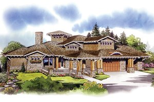 Architectural House Design - Craftsman Exterior - Front Elevation Plan #942-16