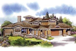 Craftsman Exterior - Front Elevation Plan #942-16