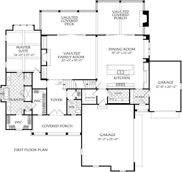Farmhouse Floor Plan - Main Floor Plan Plan #927-997