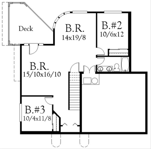 Cottage Floor Plan - Lower Floor Plan Plan #509-10