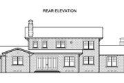 Traditional Style House Plan - 4 Beds 3.5 Baths 3364 Sq/Ft Plan #490-22 Exterior - Rear Elevation